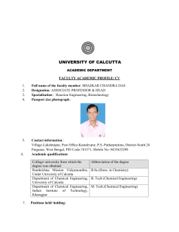 Profile - University of Calcutta
