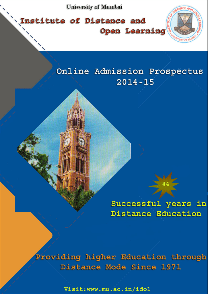 Prospectus for 2014-15 - University of Mumbai