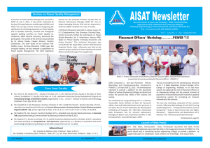 Newsletter Volume 1 – Issue 3 - Albertian Institute of Science and