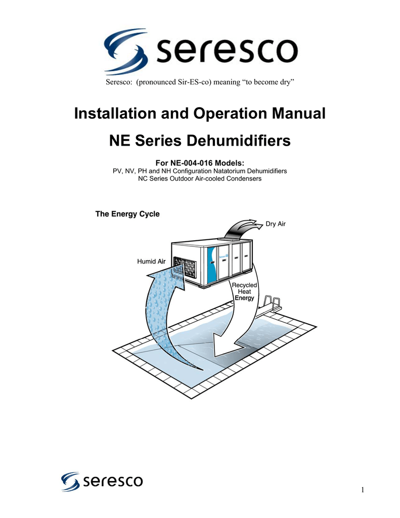 Installation And Operation Manual Ne Series Dehumidifiers Pump Down Solenoid Wiring Diagram 018479155 1 D7db09dc1f9d82da9eefe48e457fcf11