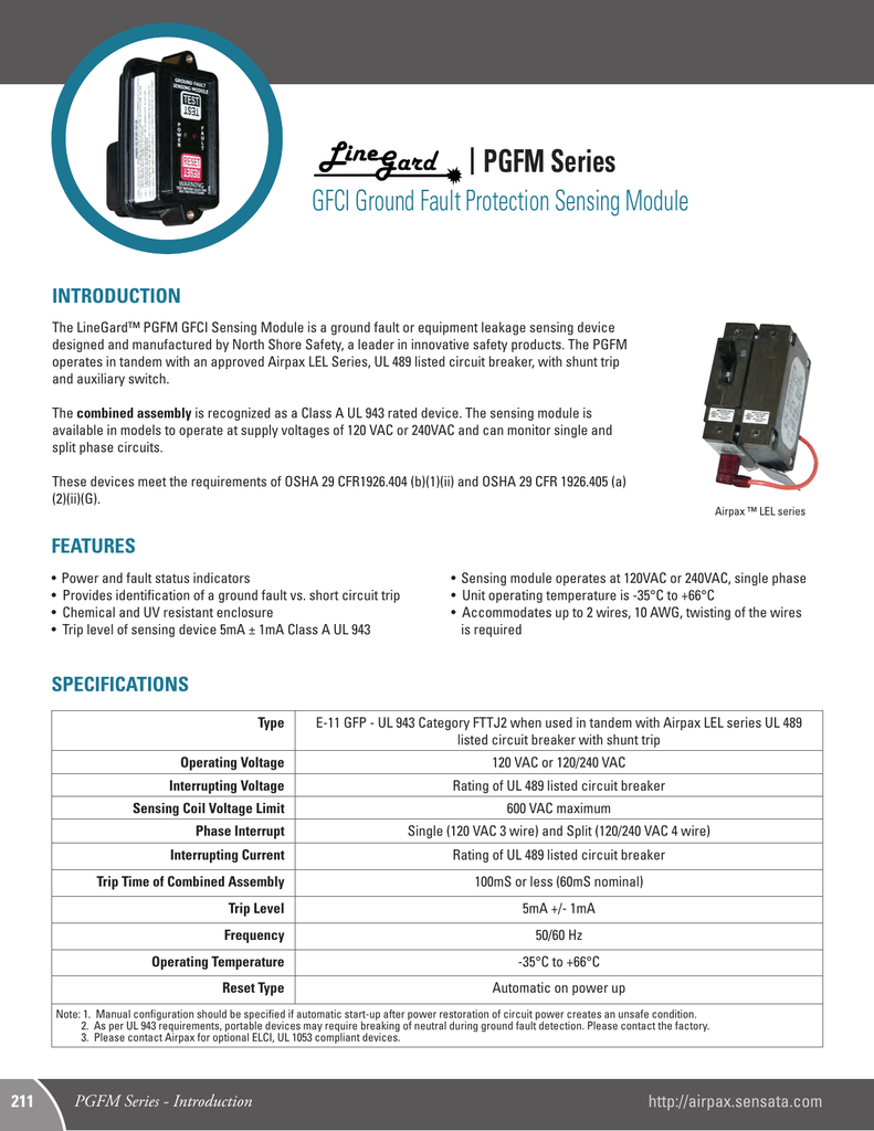 Specifications Airpax Circuit Breaker Identification Labels
