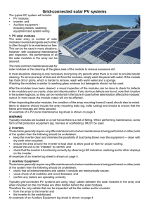 Grid Connected Solar PV Systems Maintenance