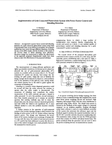 Implementation of grid-connected photovoltaic system with power