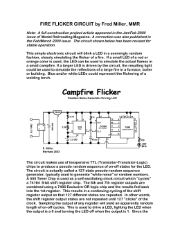 Fire Flicker Circuit