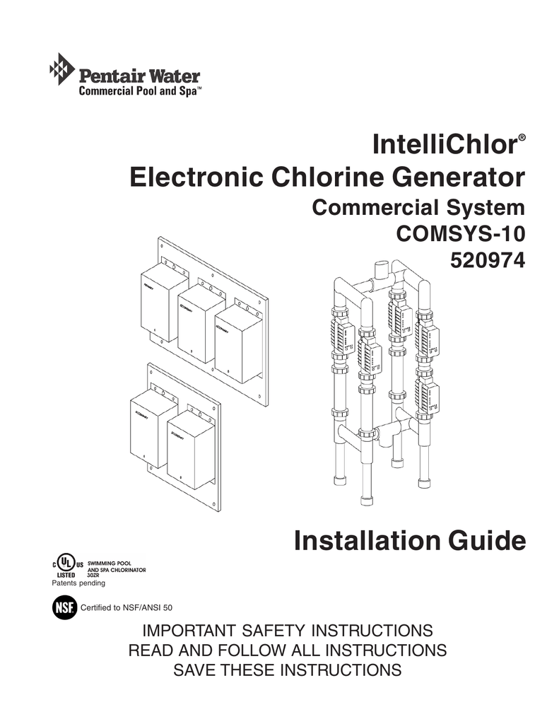 IntelliChlor Electronic Chlorine Generator COMSYS-10