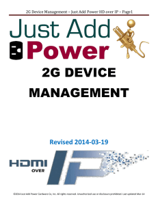 2G Device Management – Just Add Power HD over IP – Page