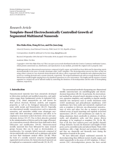Research Article Template-Based Electrochemically Controlled