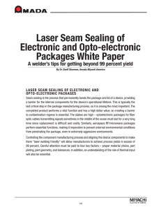 Whitepaper: Laser Seam Sealing of Electronic and Opto