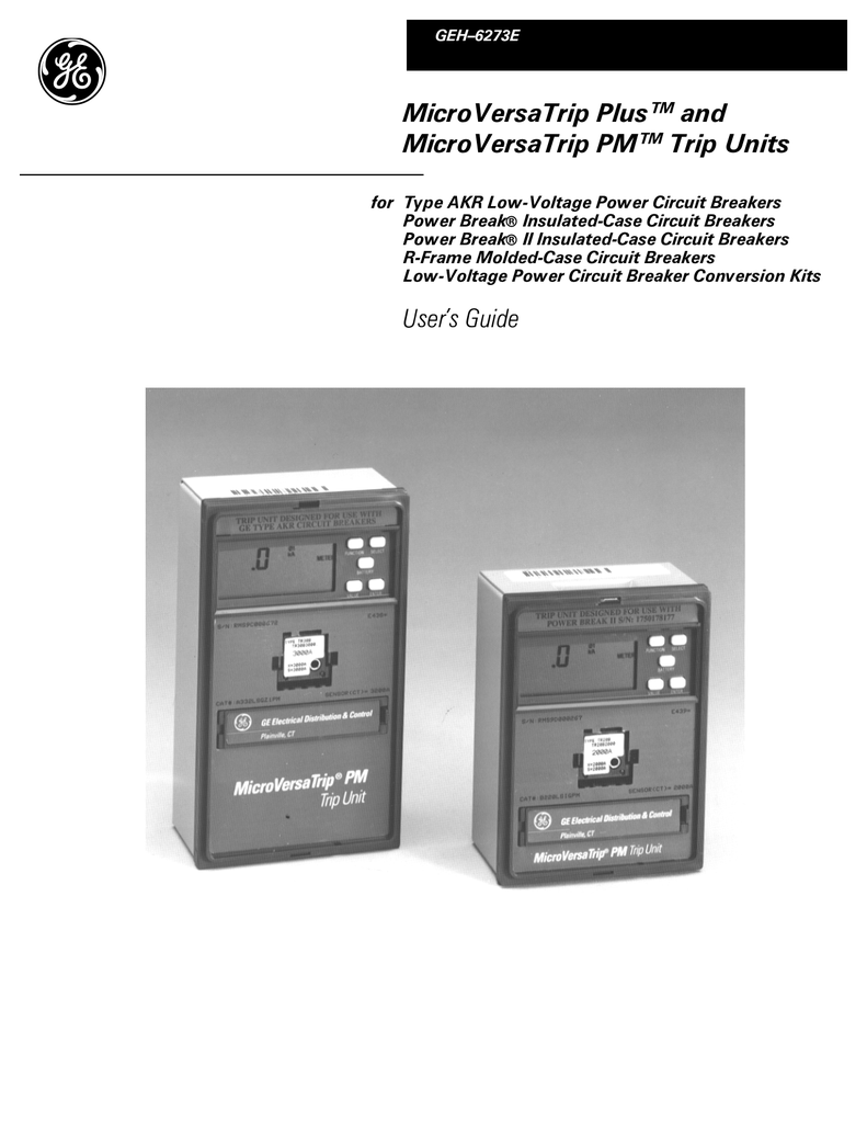 Microversatrip Plus And Pm Trip Units Users Figure 1 Variants Of Circuit Breaker Tripping Curves