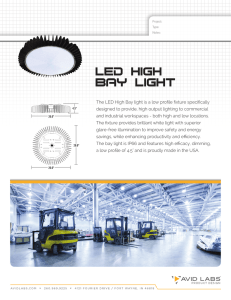 The LED High Bay light is a low profile fixture specifically designed