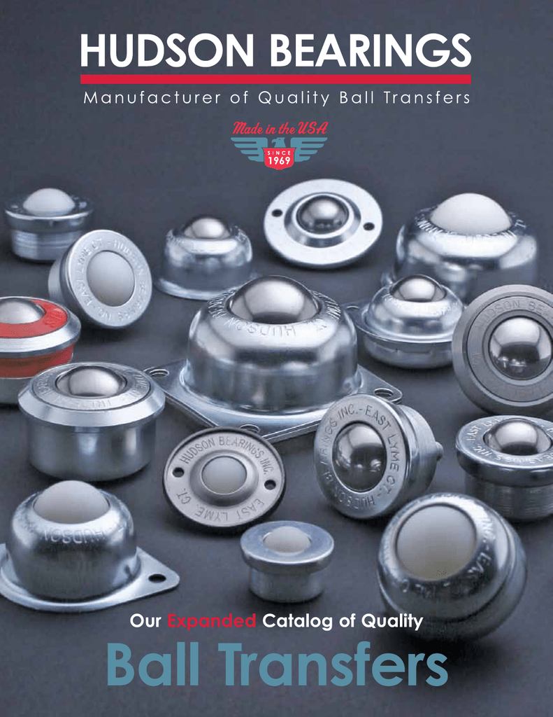 250 lbs Load Capacity 1-1//2 Diameter Case of 4 Hudson Bearings BT-1-1//2 Flange Mounted Nylon Ball Transfer with Neoprene Cushion Carbon Steel