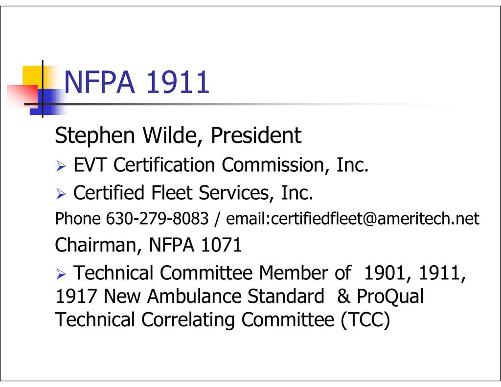 Nfpa 1911