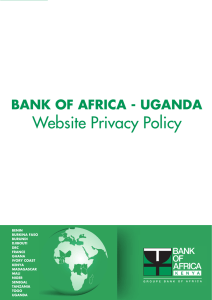 Privacy Policy - Bank of Africa Uganda