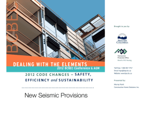 New Seismic Provisions - British Columbia Building Envelope