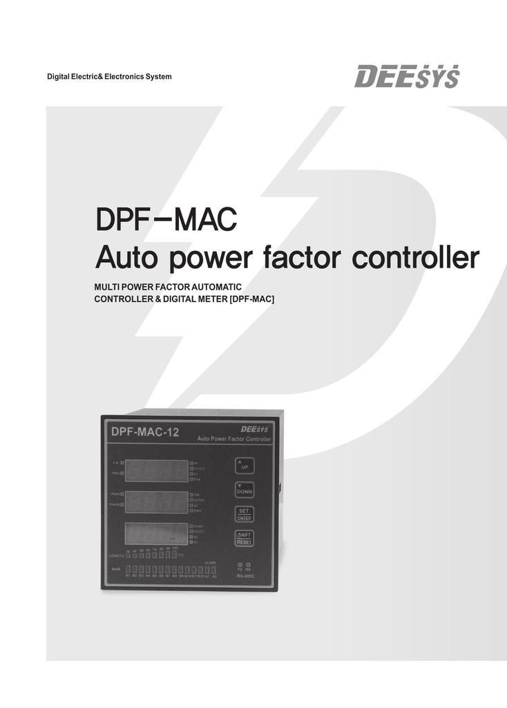 DPF-MAC Auto power factor controller