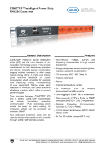 E3METERTM Intelligent Power Strip RN1224 Datasheet