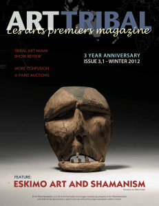 Les arts premiers magazine ESKIMO ART AND