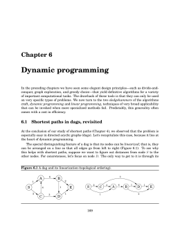 Chapter 6. Dynamic programming