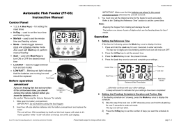 Automatic Fish Feeder (FF-03) Instruction Manual