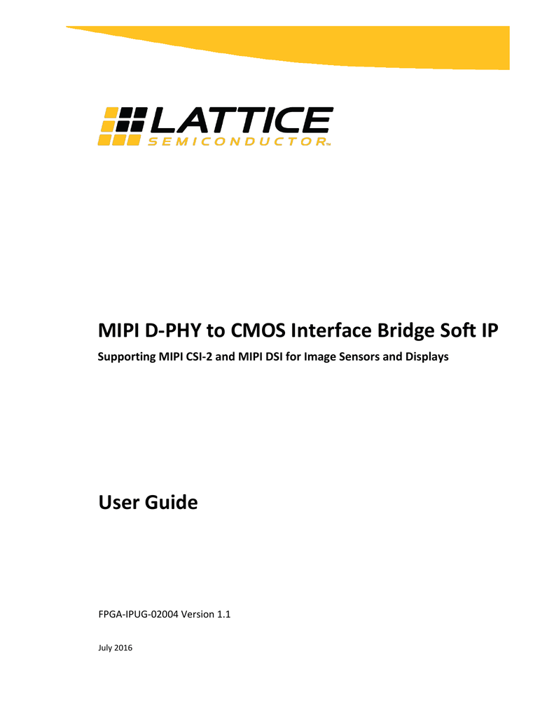MIPI D-PHY to CMOS Interface Bridge Soft IP