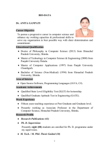 View Resume - hpucs.ac.in