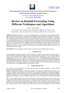 Review on Rainfall Forecasting Using Different Techniques and
