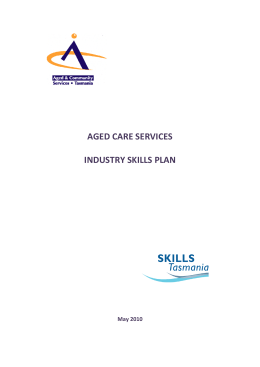 Aged Care Services Industry Skills Plan