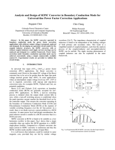Analysis and Design of SEPIC Converter in Boundary Conduction