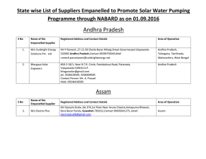 State wise List of Suppliers Empanelled to Promote Solar Water