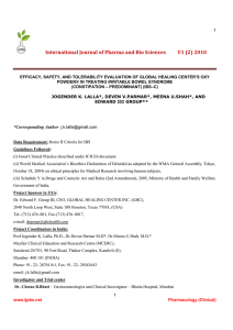 International Journal of Pharma and Bio Sciences V1 (2) 2010