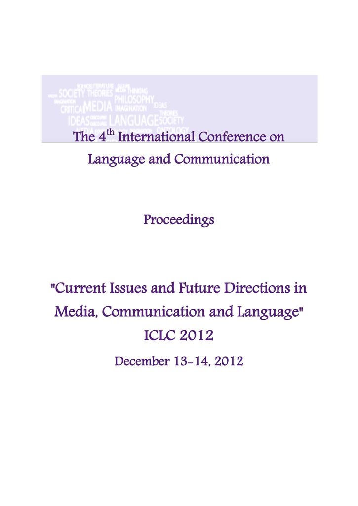 ICLC 2012 Proceedings - The 7th International Conference on