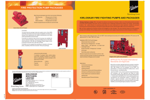 to Kirloskar Fire Fighting System brochure