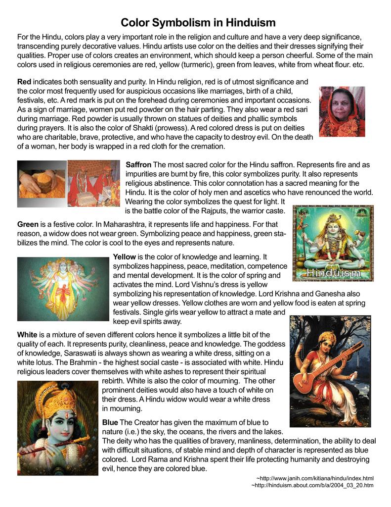 Color Symbolism In Hinduism