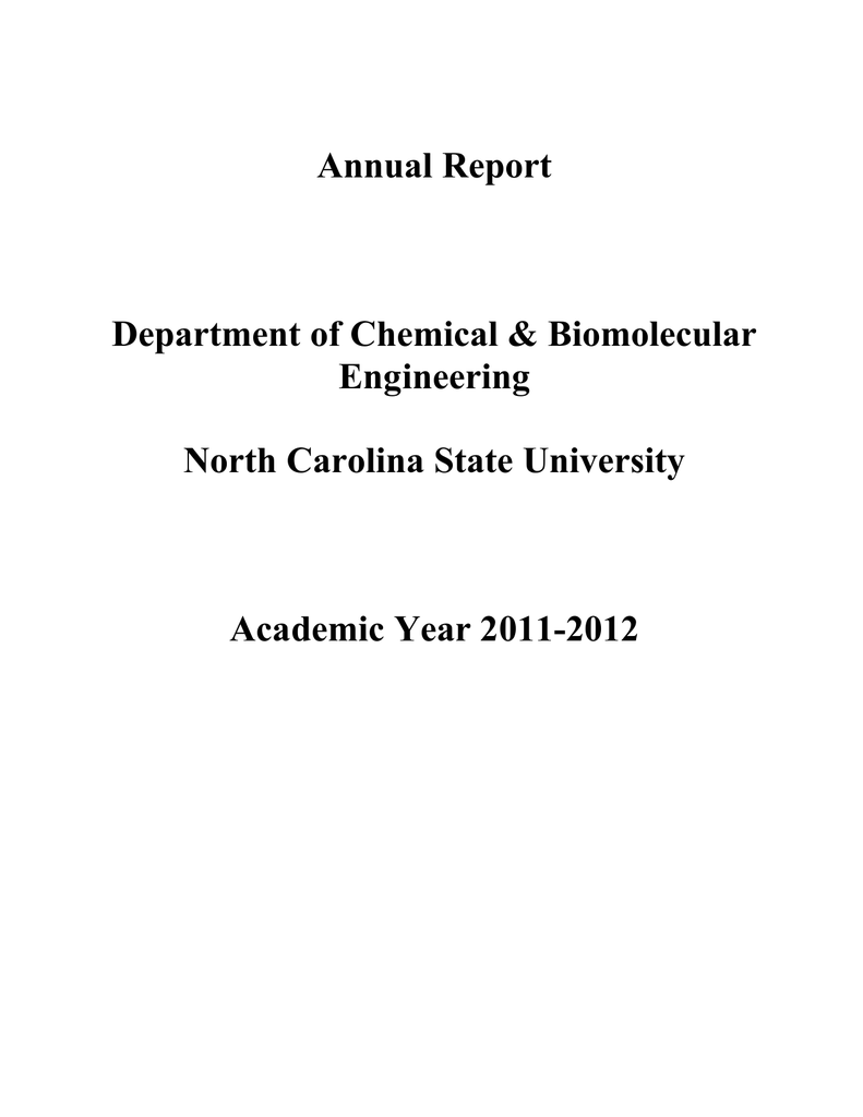 Annual - Department of Chemical and Biomolecular Engineering