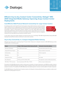 Efficient Any-to-Any Contact Center Connectivity: Dialogic® IMG