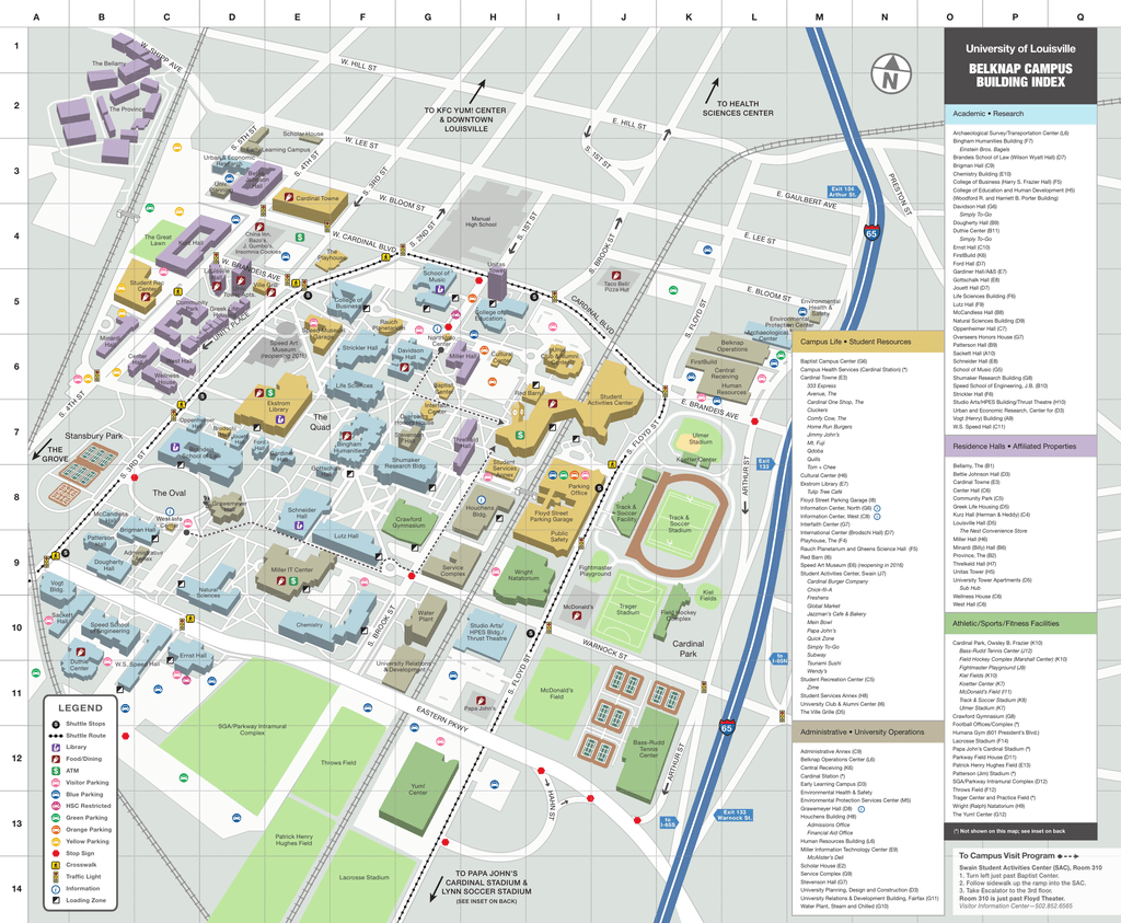 Campus Maps   University of Louisville