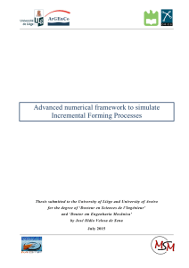 Advanced numerical framework to simulate Incremental