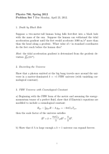 Physics 786, Spring 2012 Problem Set 7 Due Monday, April 23