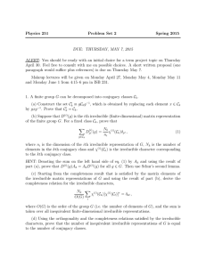 Physics 251 Problem Set 2 Spring 2015 DUE: THURSDAY, MAY 7