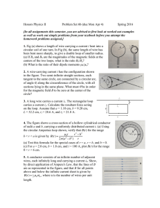 Honors Physics II Problem Set 6b (due Mon Apr 4) Spring 2016 [In