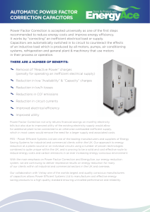 AUTOMATIC POWER FACTOR CORRECTION CAPACITORS