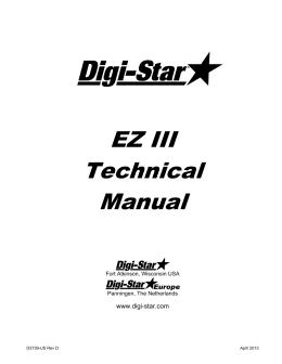EZ III Technical Manual - Digi-Star