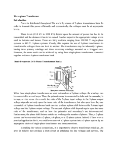 Three phase Transformer Introduction Power is