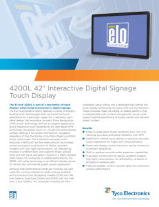 "4200L 42"" Interactive Digital Signage Touch Display"