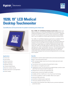 "1928L - Datasheet for 1928L 19"" LCD Medical Desktop"