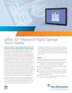 "3200L 32"" Interactive Digital Signage Touch Display"