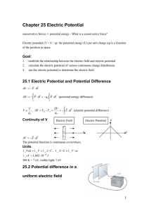 Chapter 25 Electric Potential ∫ ∫ ∫ ⋅