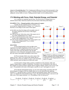 17-5 Working with Force, Field, Potential Energy, and