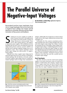 The Parallel Universe of Negative-Input Voltages