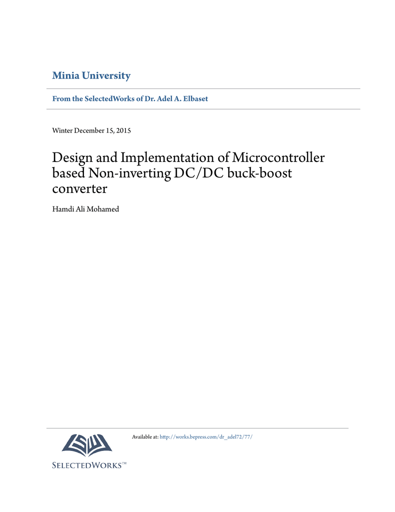 Design And Implementation Of Microcontroller Based Non Synchronous Buck Converter